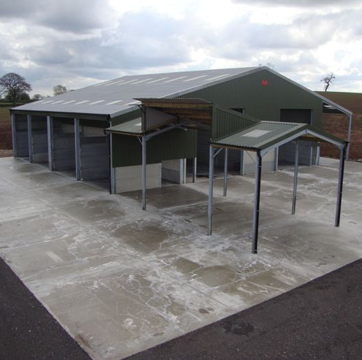 Pig Farm Concrete Floors to Sheds & Exterior