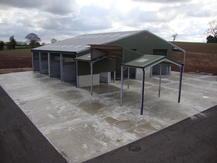Pig Farm Concrete Floors to Sheds & Exterior